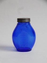 チェコ メモリ付きの青い瓶